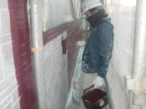 2015.01.30I様⑧1階部外壁中塗り施工中