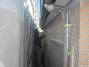 2015.01.30I様②2階部外壁下塗り施工中