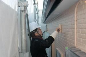 2015.01.30I様④2階部外壁上塗り施工中
