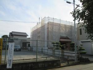 2015.02.13Y自治会館様④足場組み立て完了
