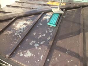 2015.02.6N様⑬下屋根トタン部塗装施工前