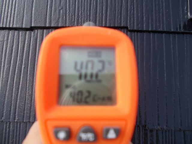2014.9.18N様邸温度測定 屋根塗装後