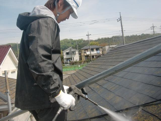 2015.07.24S様邸⑧屋根高圧洗浄
