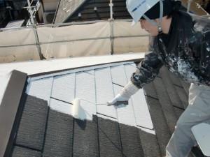 2015.07.10T様邸⑬屋根下塗り施工中