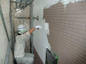 2015.07.10T様邸⑤外壁1階部分下塗り施工中