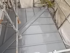 2015.02.6N様⑲下屋根トタン部塗装施工完了