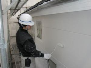 2015.07.10T様邸⑨外壁2階部分上塗り施工中