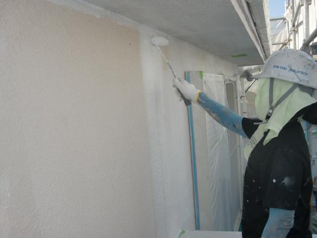 2015.07.24S様邸㉛外壁下塗り施工中