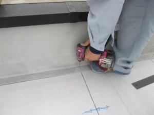 2015.04.03Y自治会館様4ラジアルシート貼り施工完了