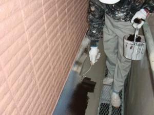 2015.07.10T様邸⑧出窓屋根下塗り施工中