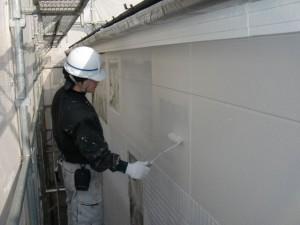 2015.07.10T様邸⑦外壁2階部分中塗り施工中