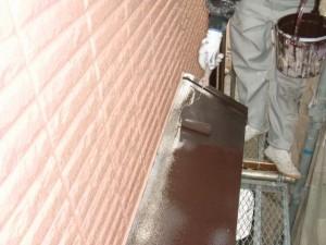 2015.07.10T様邸⑨出窓屋根中塗り施工中