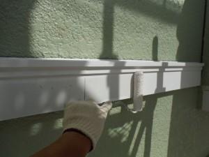 2015.07.16I様邸④帯板中塗り施工中