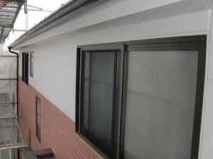 2015.07.10T様邸⑨外壁2階色分け部分完了