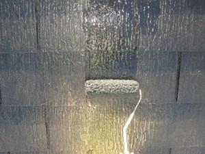 2014.12.26K様邸㉒屋根上塗り施工中