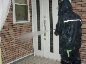 2014.12.26K様邸③外壁高水圧洗浄