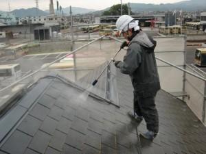 2014.12.26K様邸⑫屋根高水圧洗浄