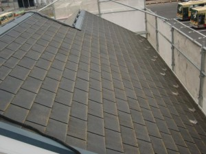 2014.12.26K様邸⑪屋根塗装施工前
