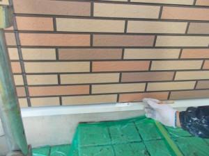 2014.12.26K様邸㉚水切り下塗り施工中