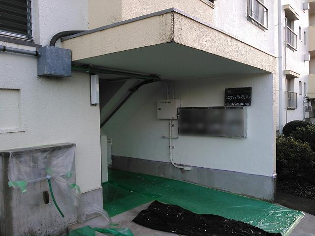 20160129Oマンション様⑤上塗り1回目塗布施工後