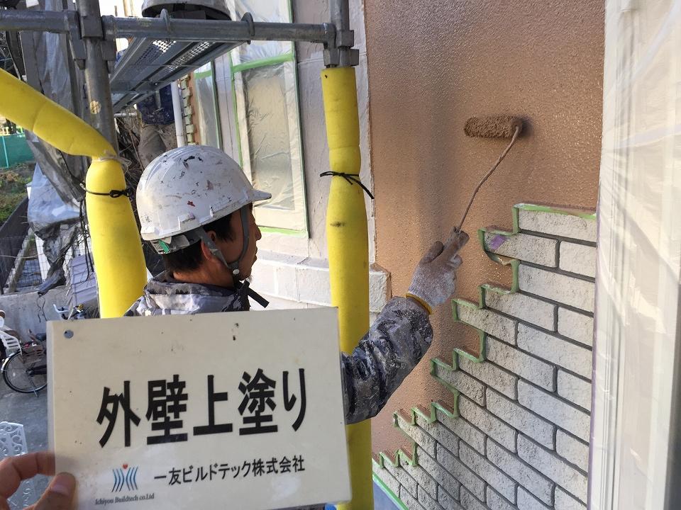 20170217O様邸⑥外壁上塗り