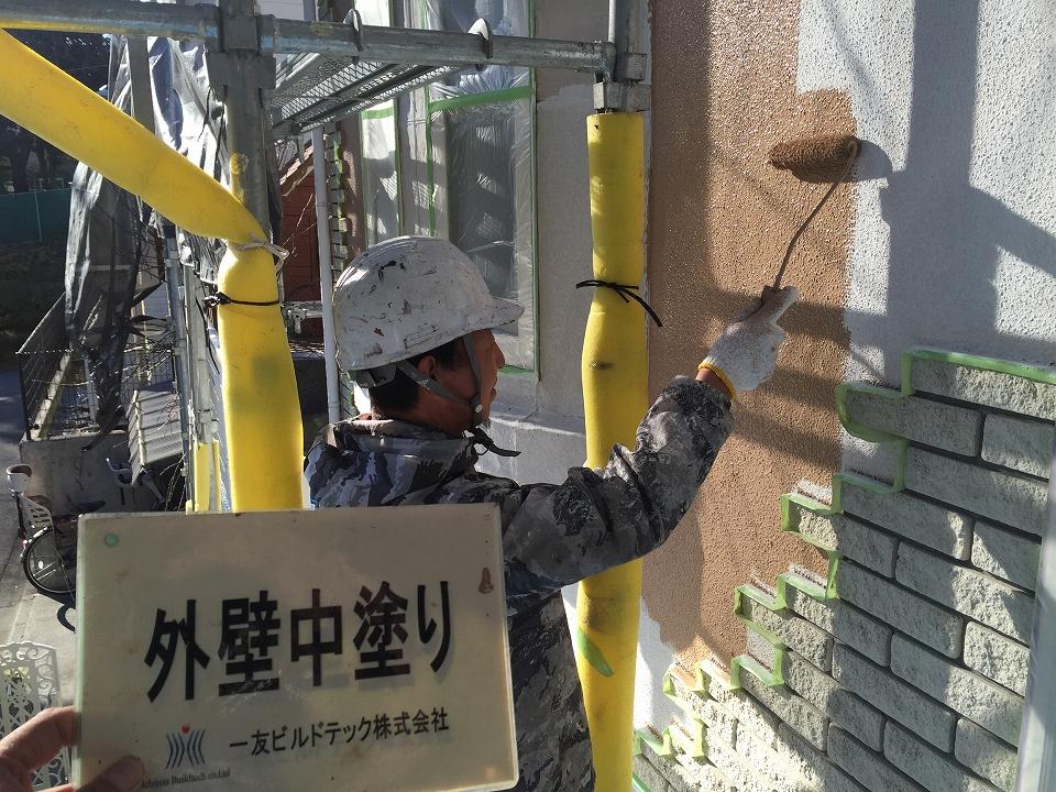20170217O様邸⑤外壁中塗り