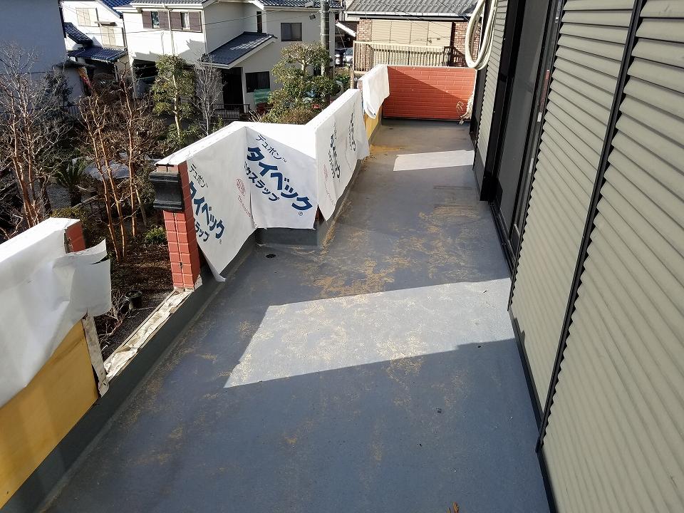 20170224M様邸⑬防水浸透紙貼り施工中
