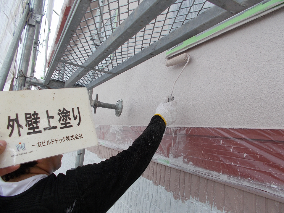20170616S様邸⑫外壁モルタル部上塗り