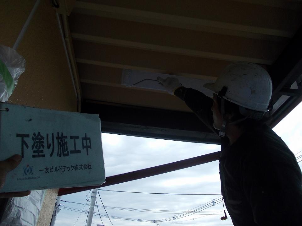 20170630Nアパート様③下塗り施工中