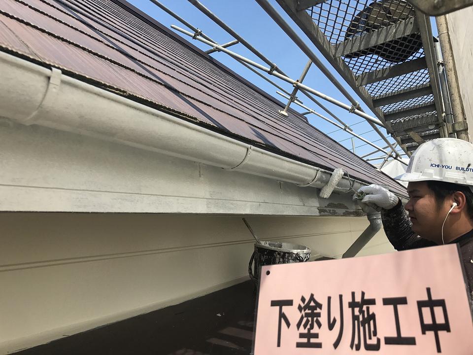 20170825K様邸③下塗り施工中