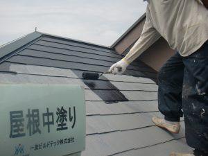 20170922O様邸⑩屋根中塗り