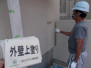 20170929S様邸⑤外壁上塗り