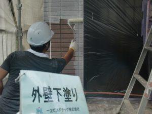 20170922T様邸③外壁下塗り