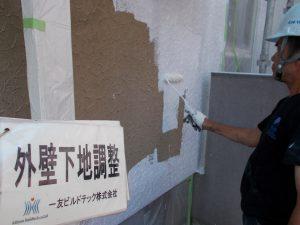 20170929S様邸③外壁下塗り