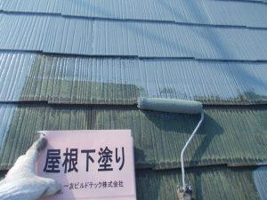 20170915H様邸④屋根下塗り