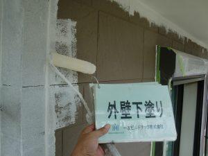 20171102I様邸④1階 外壁下塗り