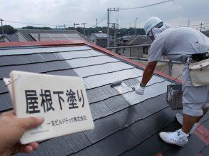 20171113O様邸⑨屋根 下塗り