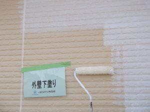 20171113O様邸⑤2階 外壁下塗り