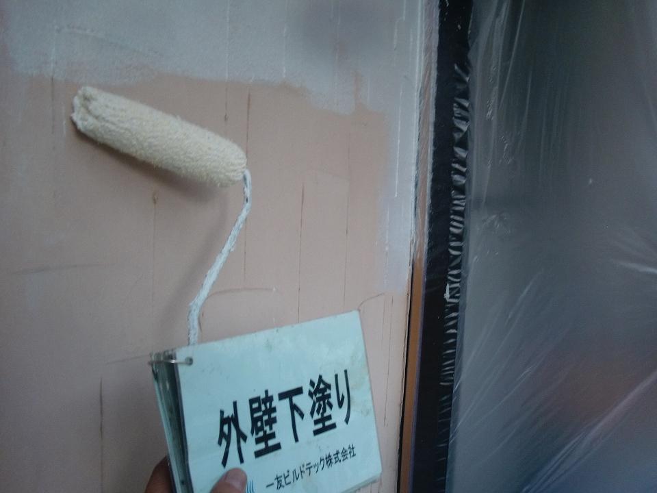 20171117I様邸③外壁下塗り