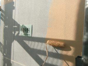 20180126K様邸④外壁 中塗り施工中