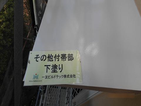 20180629M様邸①霧除け 下塗り施工中