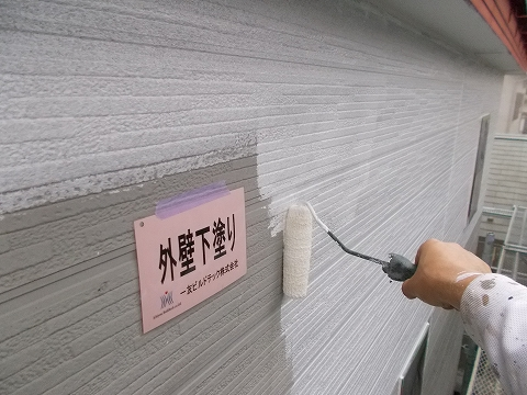 20180817H様邸③外壁 下塗り