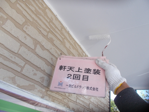 20180803T様邸③軒天 塗装2回目