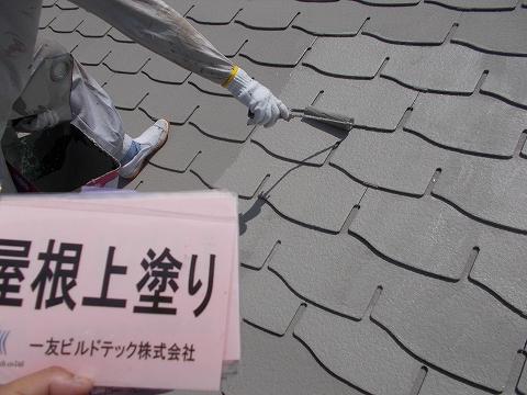 20180727D様邸⑨屋根 上塗り