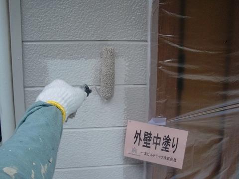 20180824S様邸④外壁 中塗り