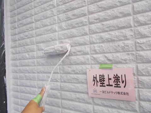20180831O様邸⑪外壁上塗り