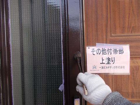 20180907U様邸⑤木枠 上塗り