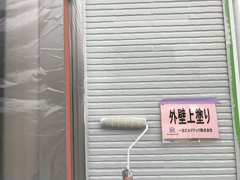 20181012K様邸⑥外壁上部上塗り