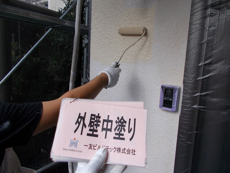 20190125S様邸④外壁 中塗り