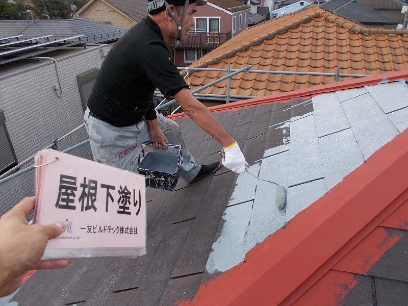 20190322K様邸⑤屋根 下塗り